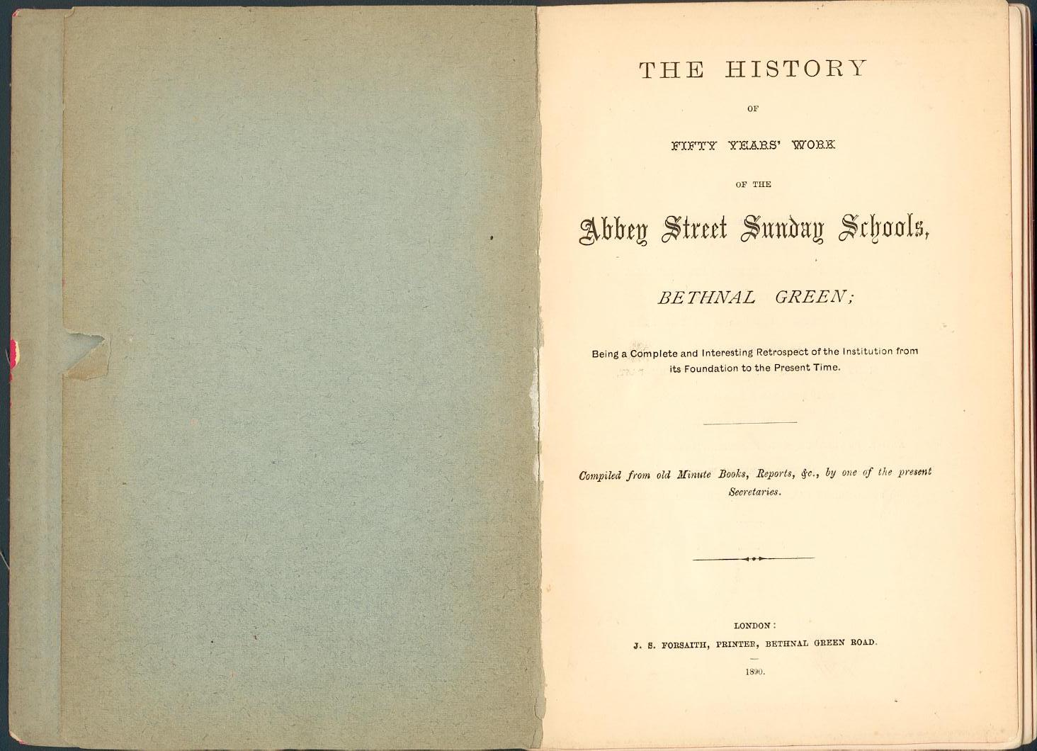 book files abbey street sunday schools book title page
